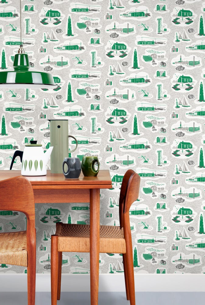 Image of Dungeness Wallpaper - Coach Emerald