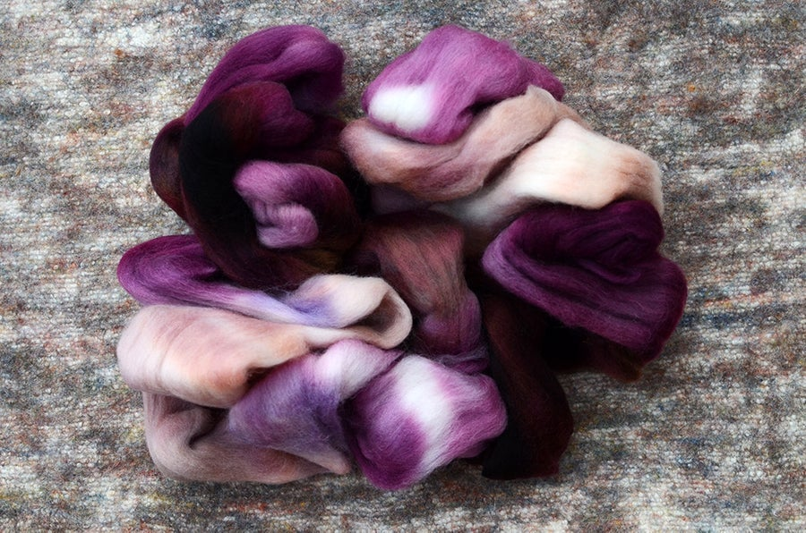 "Image of ""Fungus"" South American Wool Blend Spinning Fiber - 4 oz."