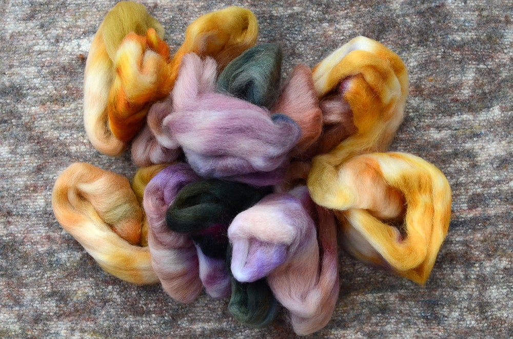 """Image of """"The Fens"""" Hand-dyed Kent Romney Lambswool Spinning Fiber - 4 oz."""