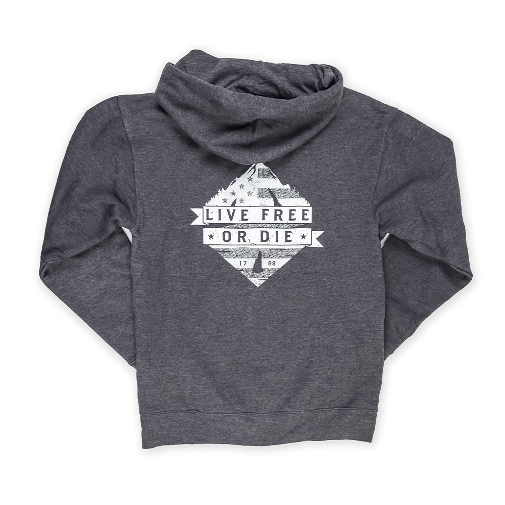 Image of Granite Mountain Zip up Hoodie-Dark Heather Grey