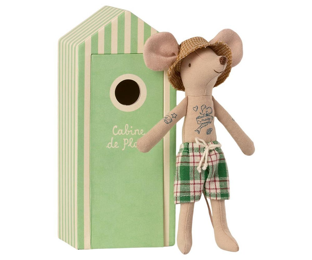 Image of Maileg - Beach Mouse Dad in Cabin