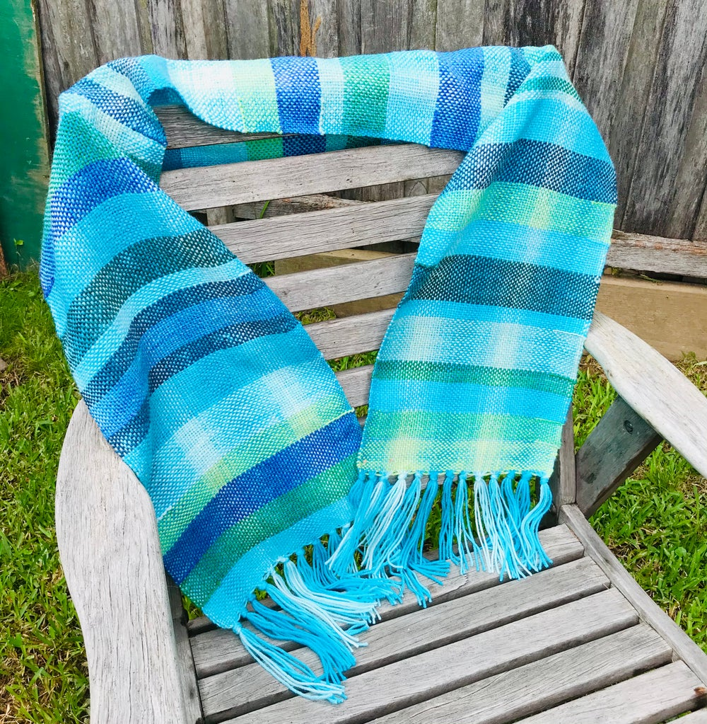 Image of Cool Waters Woven Scarf