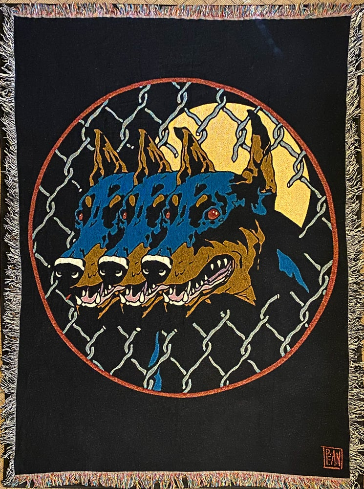 Image of Dog Days woven blanket PREORDER