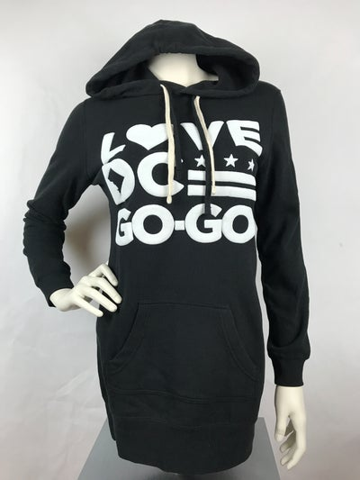 Image of LDCGG Black Hooded Dress