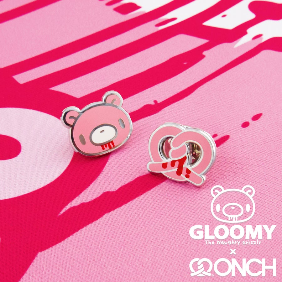 Image of Gloomy Bear x ONCH Pins set (Pink)