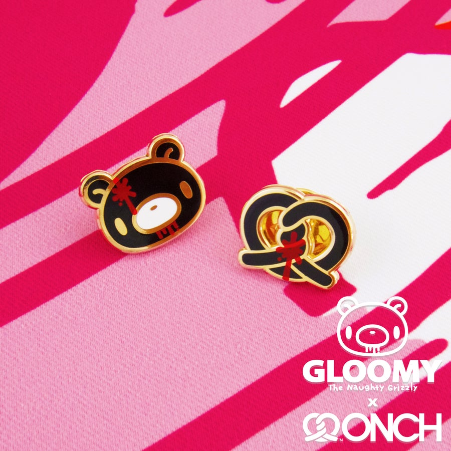 Image of Gloomy Bear x ONCH Pins set (Black)