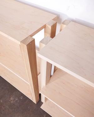 "48"" Modular Two-Shelf Set 'The Array System' by Iridium Interiors"