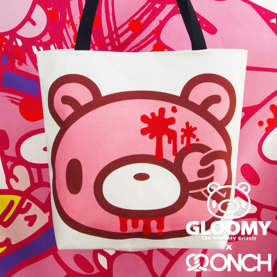 Image of Gloomy Bear x ONCH Tote (Pretzel Face)