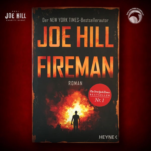 Image of JOE HILL 2021 CHARITY EVENT 29: SIGNED The Fireman - German paperback - 1 AVAILABLE