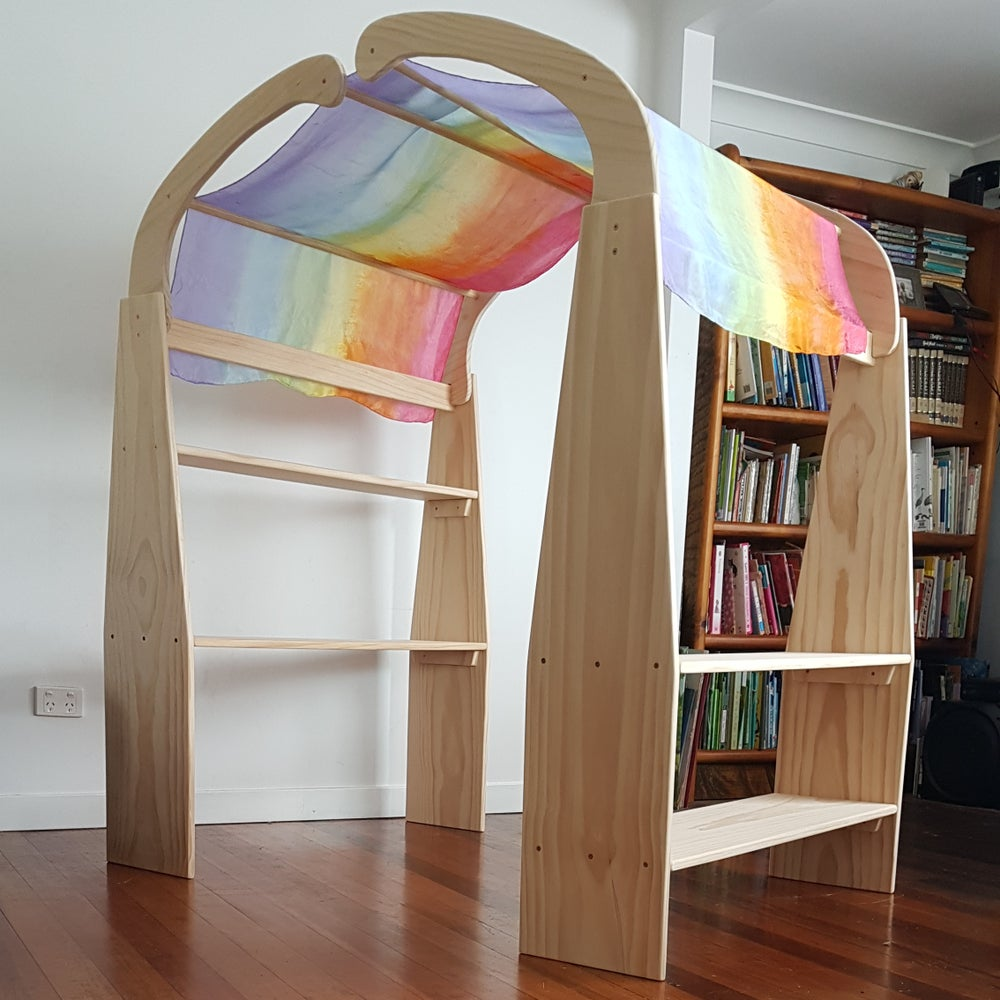 Image of Wooden Playstands - Pair    AUGUST 2021