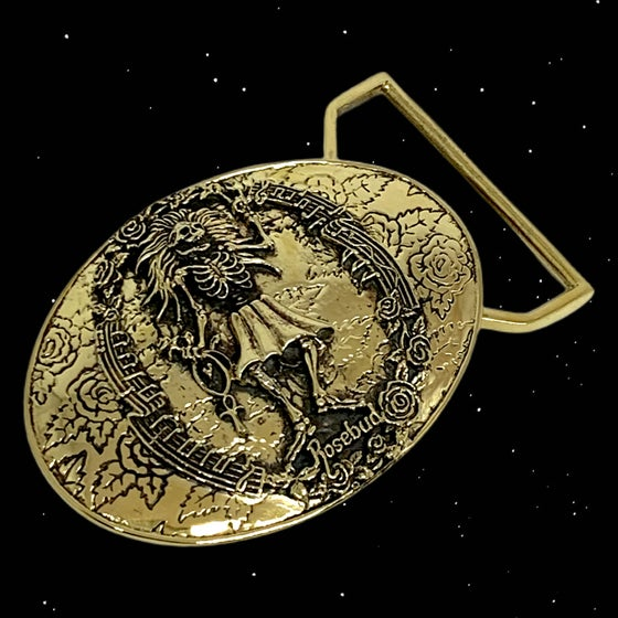 Image of Rosebud Buckle Cast in Yellow Brass