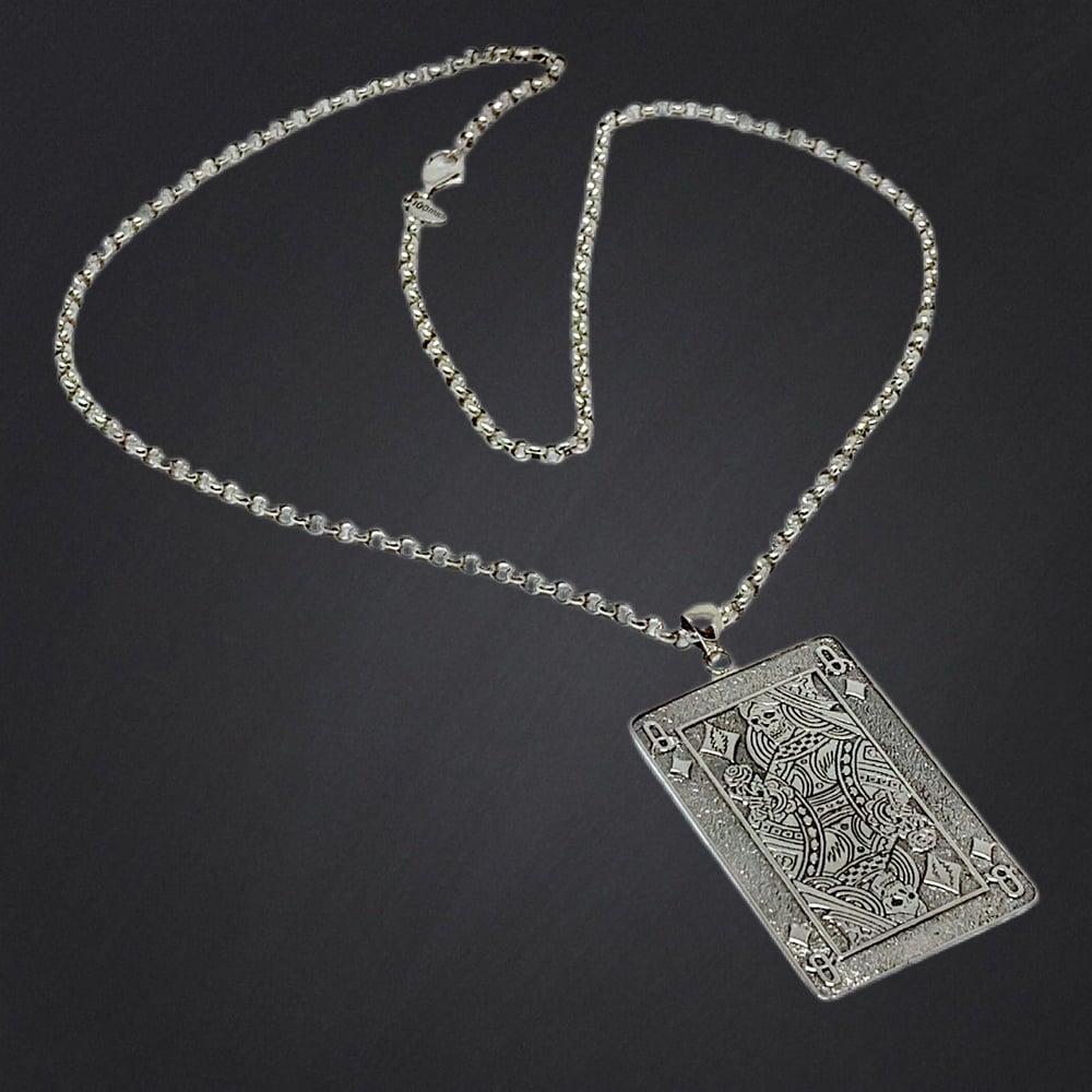 Image of Queen of Diamonds Pendant