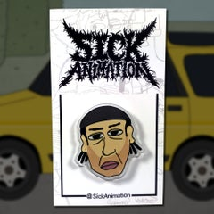 Big Mike pin - Sick Animation Shop
