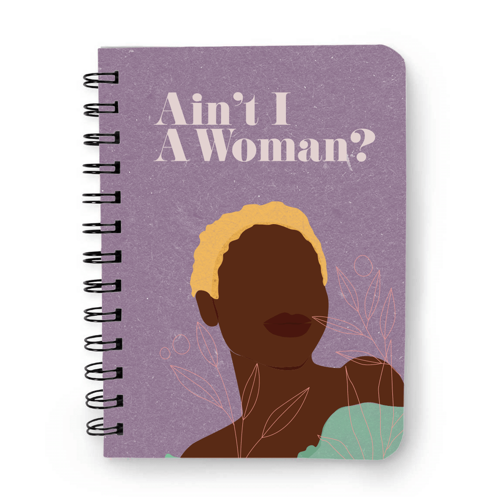 """Image of """"Ain't I A Woman"""" Notebook- Purple"""