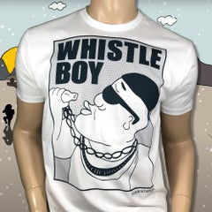 Whistleboy shirt WHITE - Sick Animation Shop