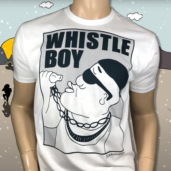 Whistleboy shirt WHITE - Sick Animation Shop
