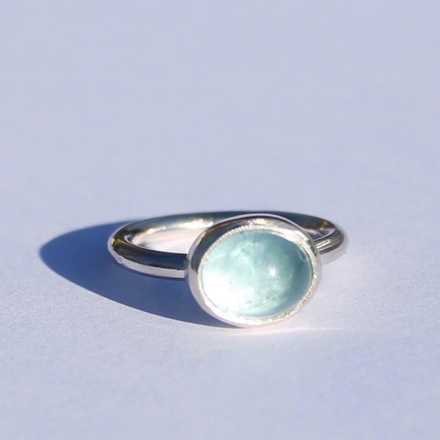 Image of Aquamarine ring 2