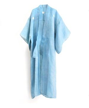 Image of Lyseblå herre-kimono af hør