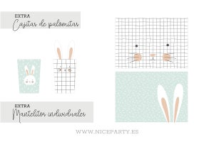 Image of Pack imprimible conejito  mint