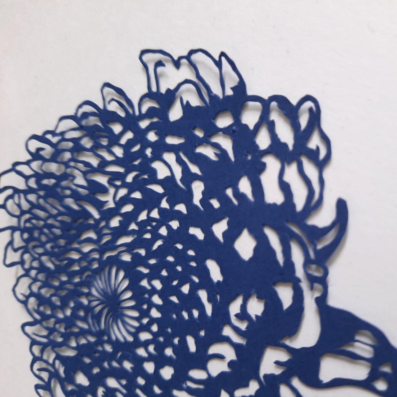 Image of Hand Cut Paper Chrysanthemum