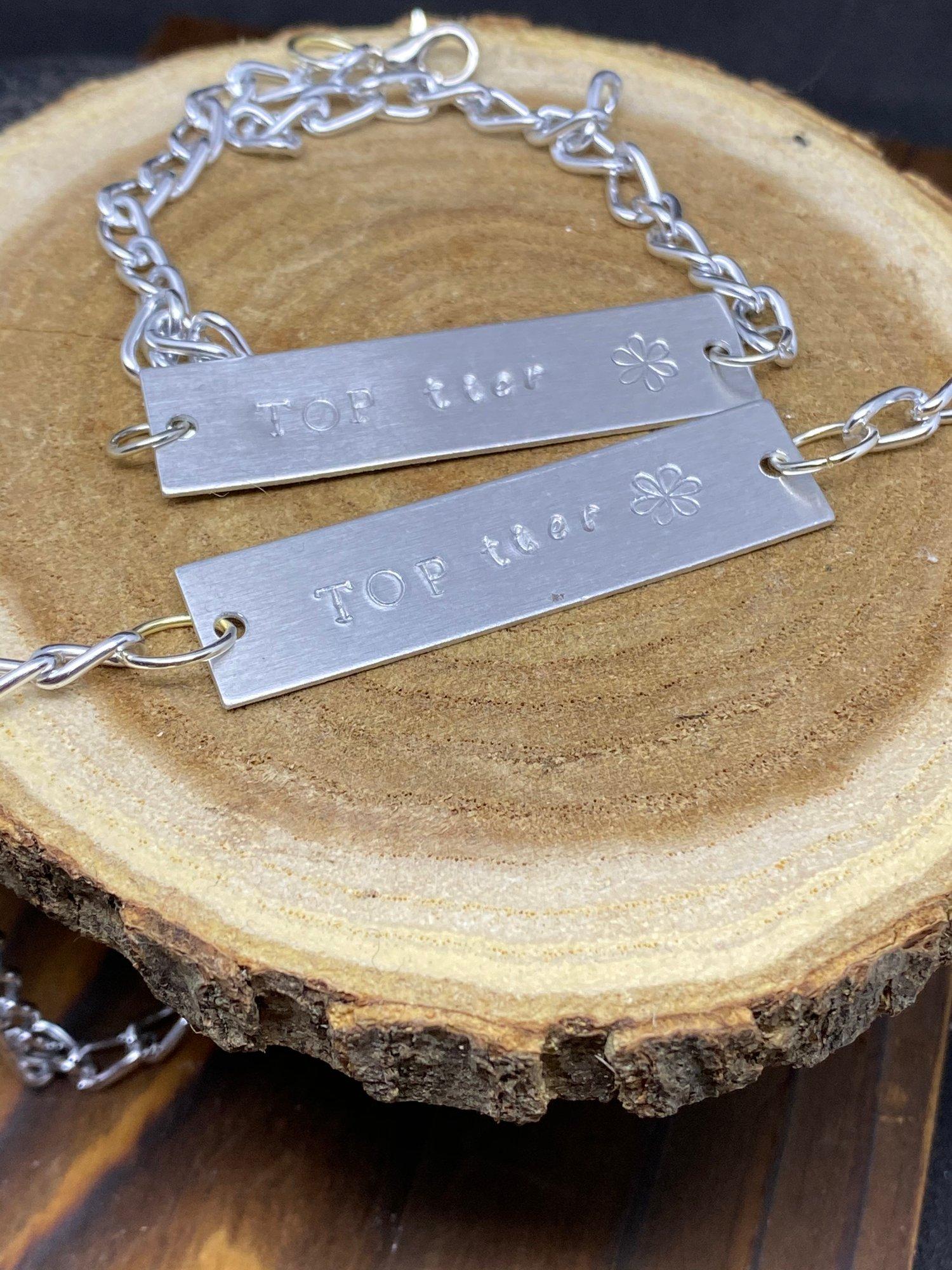 Image of Top-tier worded Bracelet