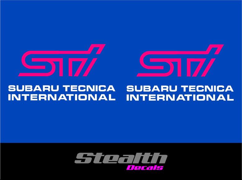 Image of STI Fog light cover stickers x2