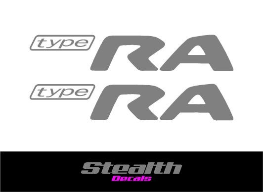 Image of Type RA Replacement Stickers Silver