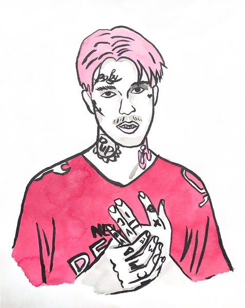 Image of LIL PEEP drawing