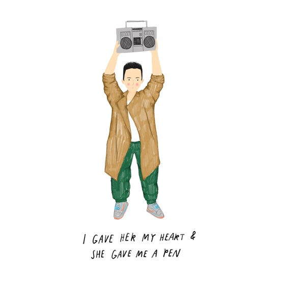 Image of Say Anything Lloyd Dobler Print Card