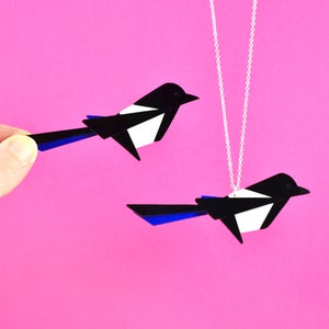 Image of Magpie Brooch or Necklace