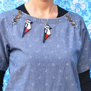 Image of Woodpecker Brooch or Necklace