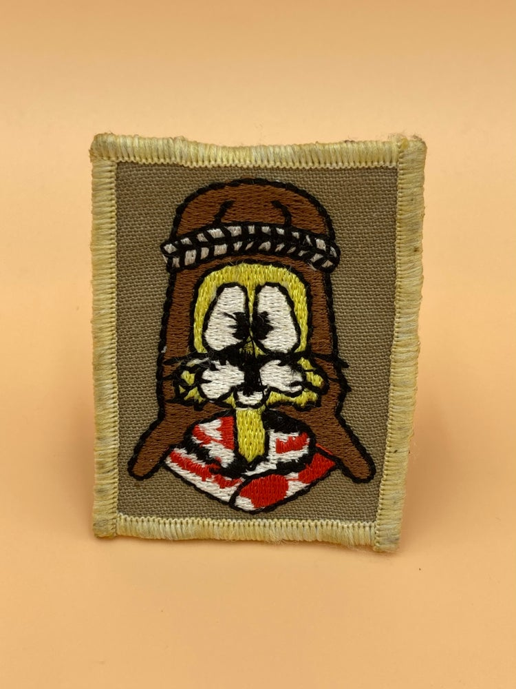 Image of Vintage British army bomb disposal patches.