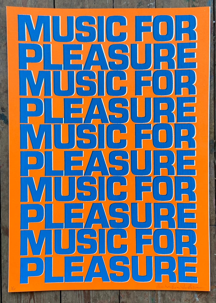 Image of Music For Pleasure (Orange and Blue) by Charlie Evaristo-Boyce