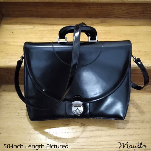 """Image of Patent Faux Leather Bag/Purse Strap - Standard (3/4"""") - Handle to Crossbody - #16LG U-shaped Clips"""