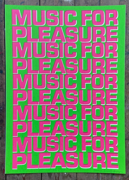 Image of Music For Pleasure (Green and Pink) by Charlie Evaristo-Boyce