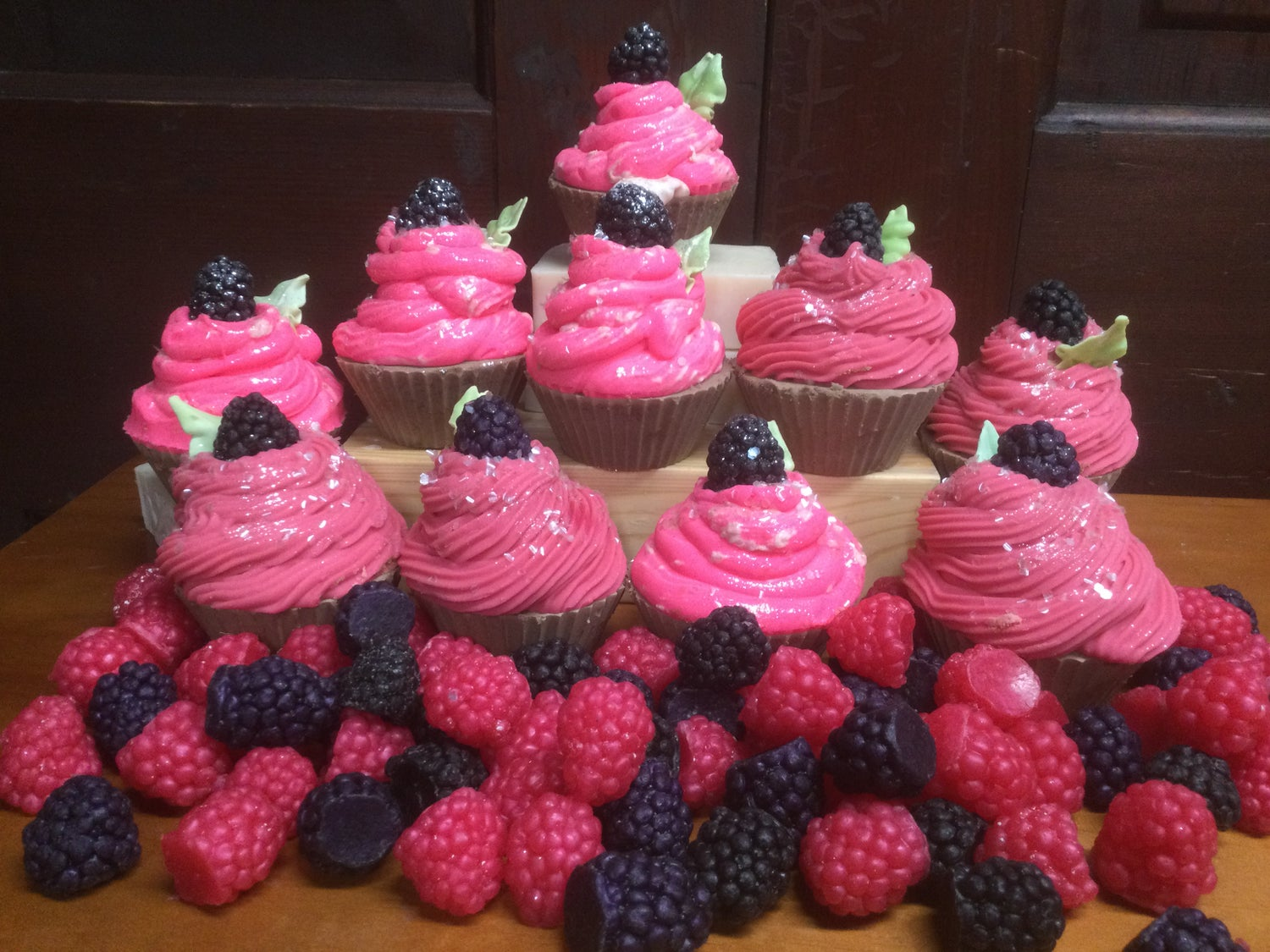 Image of Chocolate Raspberry Soapy Cupcakes