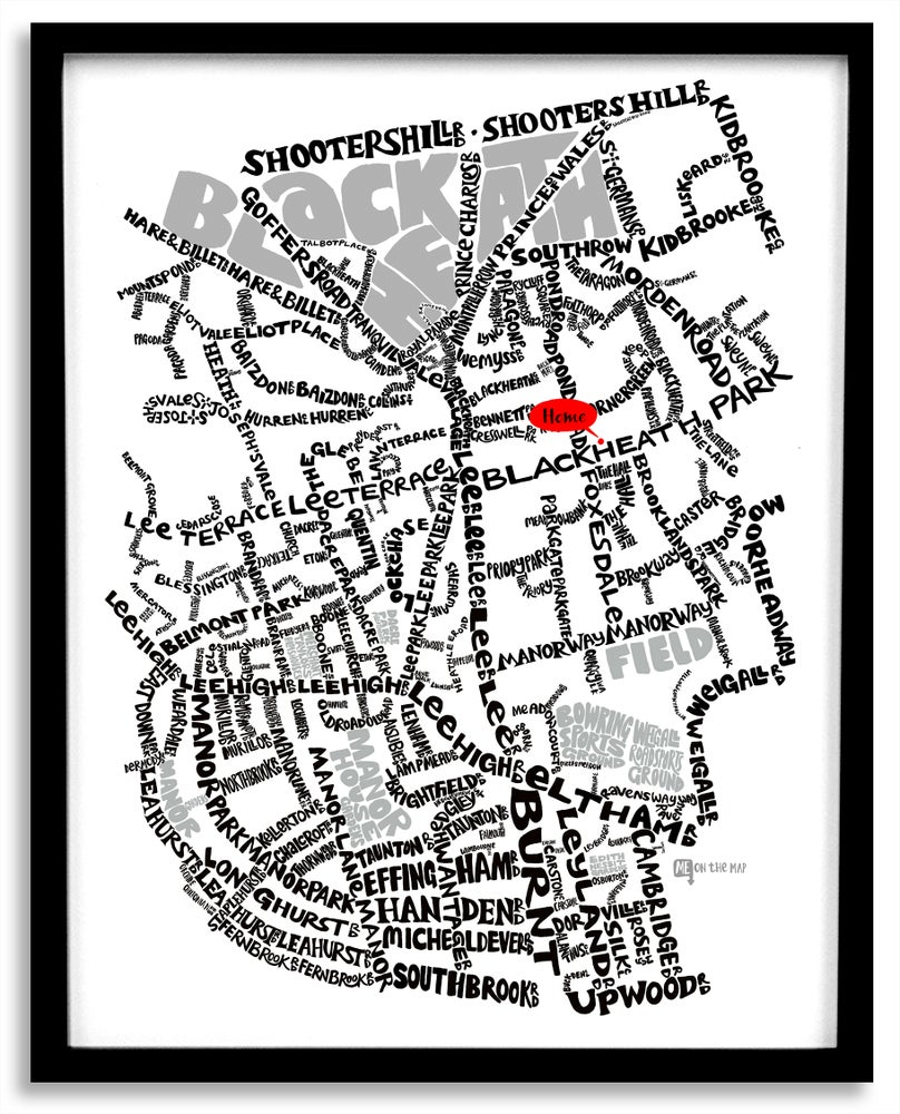 Image of Blackheath Village - SE London Type Map
