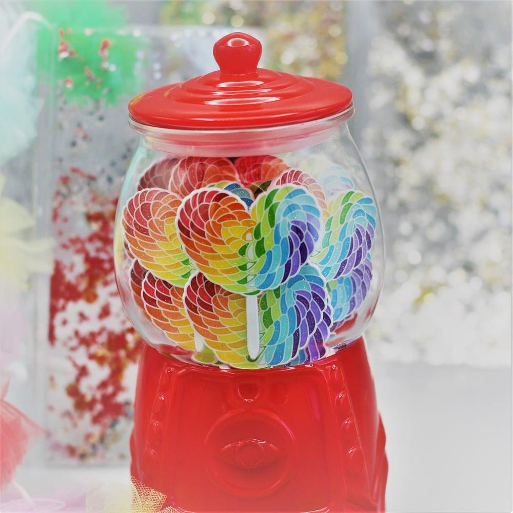 Image of Rainbow Sweet Heart Pins