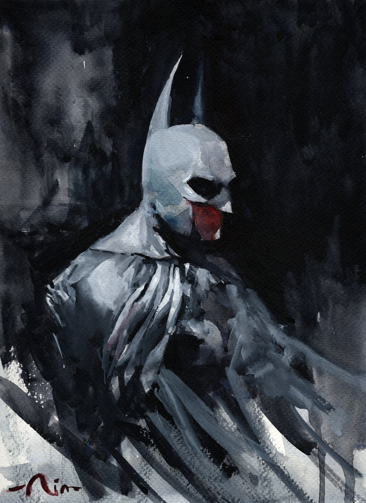 Image of Batman II watercolor prints