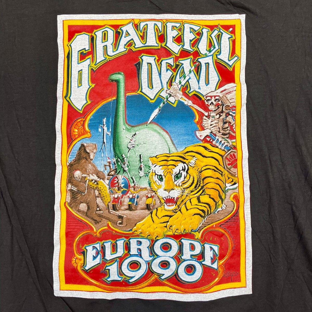 Original Rare Vintage Grateful Dead Europe 1990 Rick Griffin Tee! Medium!