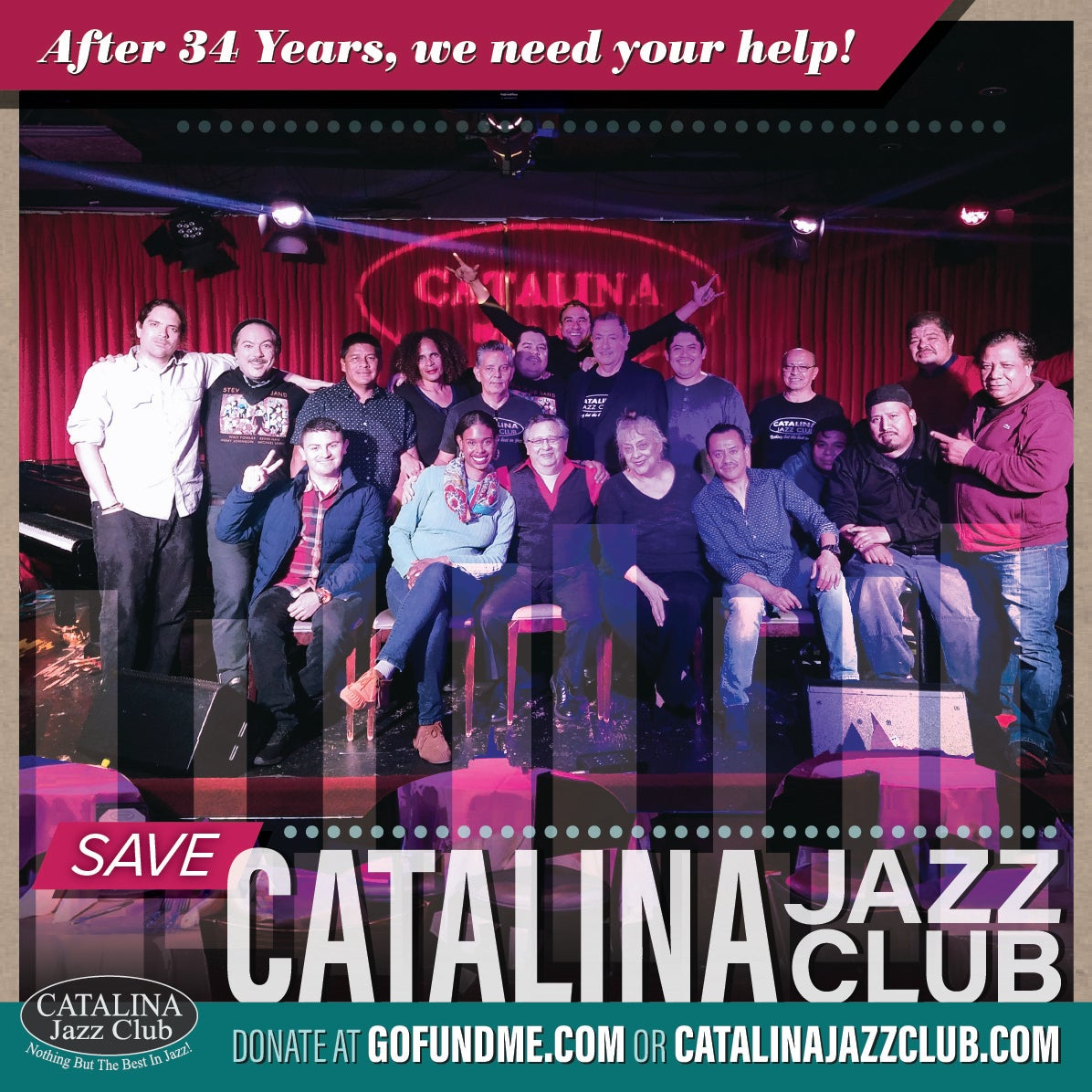 Image of Catalina Jazz Club - T Shirt (Black)