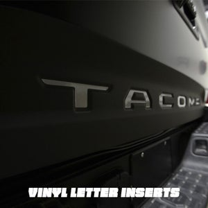 Image of Toyota Tacoma Vinyl Tailgate Letter Inserts For 3RD Gen (2016-2021)