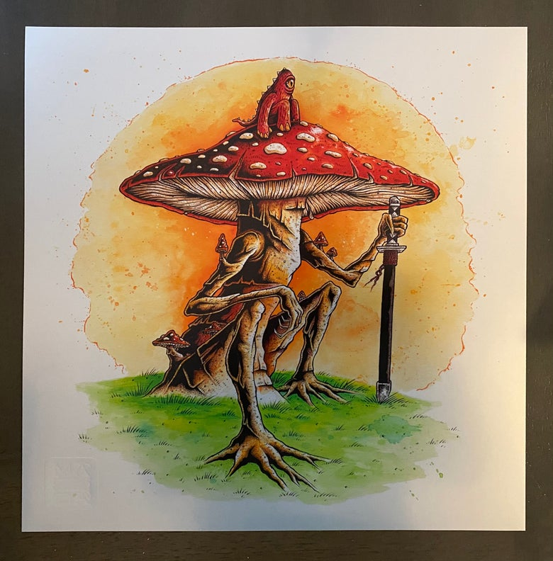 Image of Shroom Rider - Fine Art Giclee Print on Moab Metallic Paper