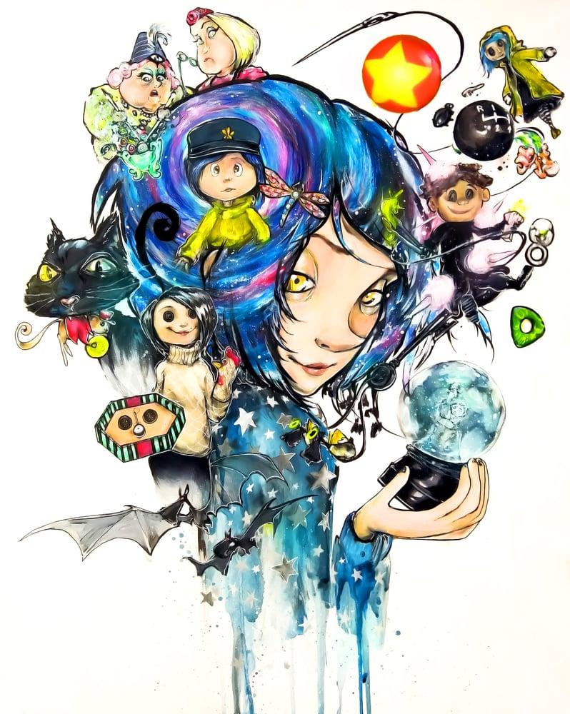 "Image of ""Coraline Jones 2.0"" Original Painting"