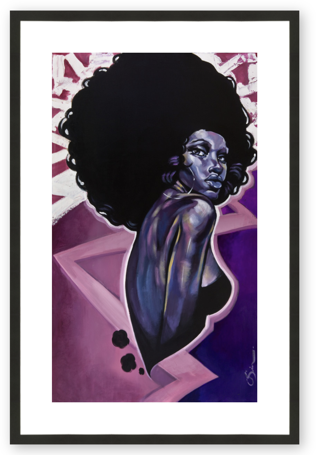 Black Cotton - Framed & Ready to Hang