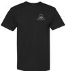 T-shirt w/ Silver Logo Front/Back