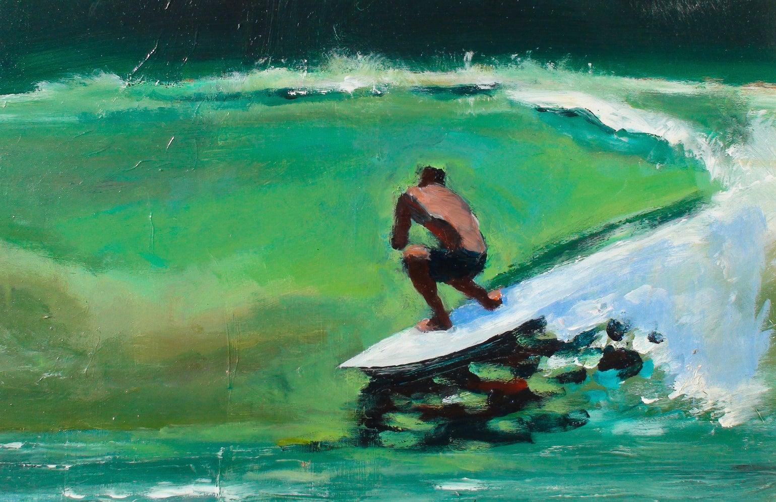 Image of Green line giclee