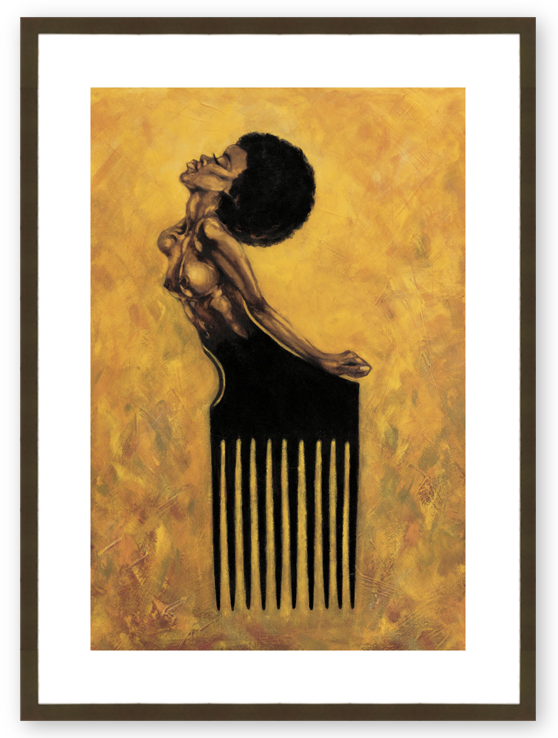 Soul Comb - Framed & Ready to Hang
