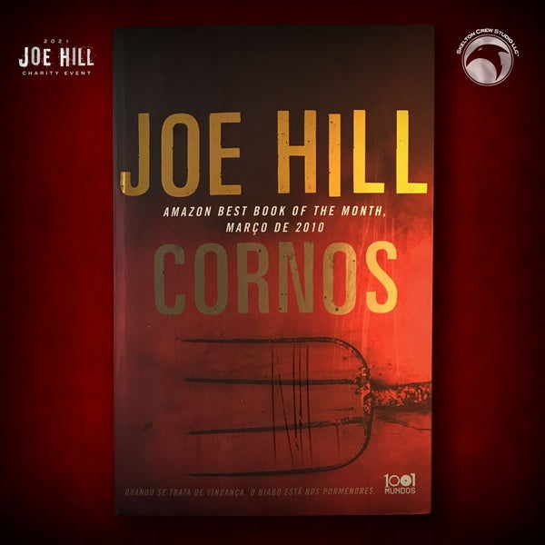 Image of JOE HILL 2021 CHARITY EVENT 54: SIGNED Horns - Portugese paperback - 6 AVAILABLE