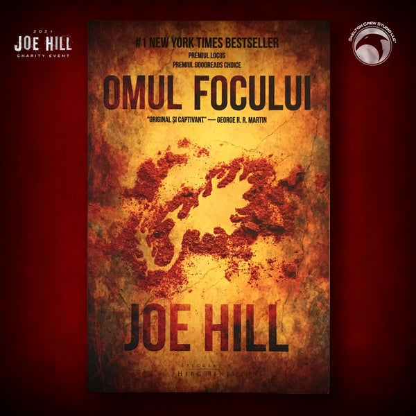 Image of JOE HILL 2021 CHARITY EVENT 57: SIGNED The Fireman - Romanian paperback - 2 AVAILABLE